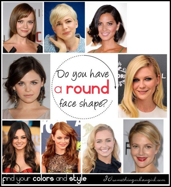 Do you have a round face shape? with celebrity examples