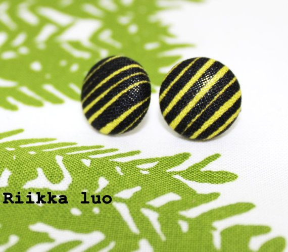Scandinavian design button earrings  surgical by RiikkaLuoDesigns