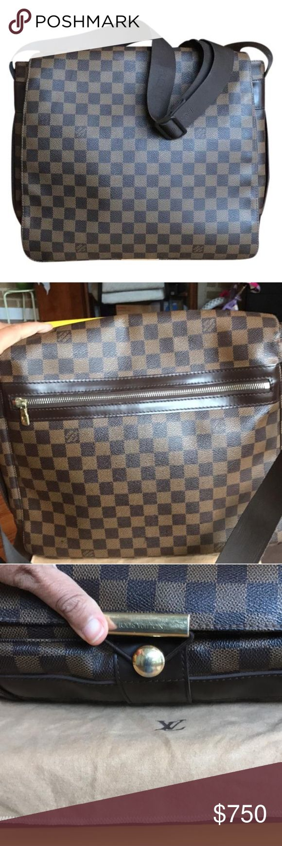 🖤BLACK FRIDAY🖤Louis Vuitton Bastille Laptop Bag In great preowned condition. Light wear. Authentic. Some scratches to the brown leather. Light scratches on corners. Inside canvas is in great shape with some light stains. Strap is adjustable. Super convenient so carry your laptop, and all your office or school everyday essentials.❌NO TRADES❌NO TRADES ❌  No box. No dustbag Louis Vuitton Bags Backpacks