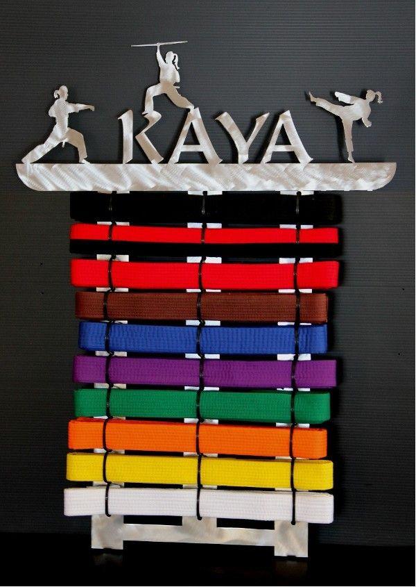 Personalized Martial Arts Belt  Holder  10 -17 Level Display #belt-displays #jujitsu #karate #karate-belt #martial-arts-belt-display #martial-arts-belt-holder #personalized  #tang-soo-do