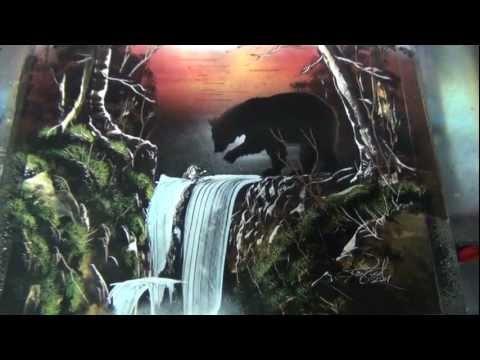 Bear Forest -Spray paint art
