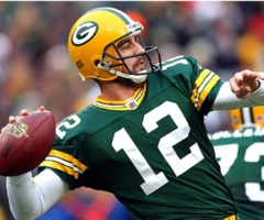 Aaron Rogers of the Green Bay Packers.