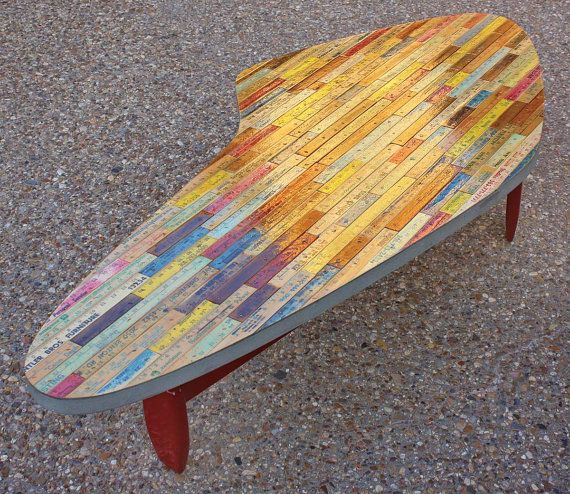 Repurposed Yardstick Table #Table, #Upcycled, #Yardstick