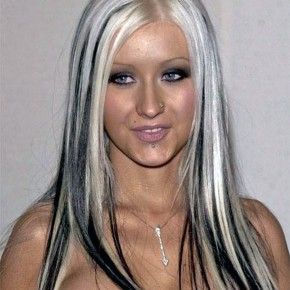 Hair Color Black With Blonde Streaks Style Pictures