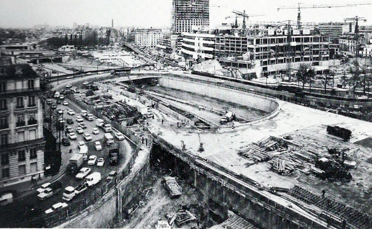 1960 construction du p riph rique porte maillot travaux for Parisien construction