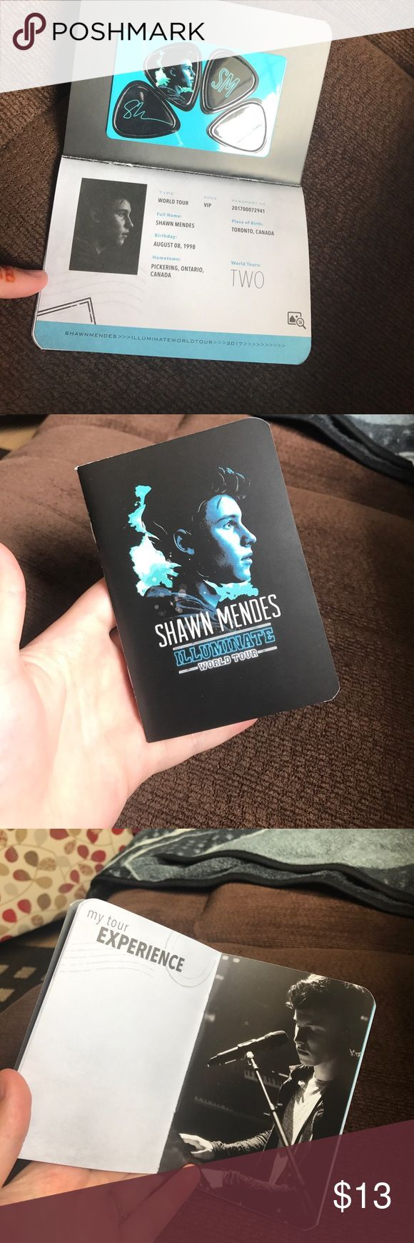 EXCLUSIVE VIP SHAWN MENDES TOUR PASSPORT VIP brand new booklet. Comes with exclusive photos and notes from Shawn and four guitar picks. Brand new and super cool. Shawn Mendes Other