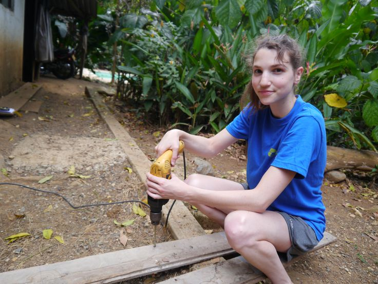 Meet Pauline from Belgium! She is hard at work trying to create shelter for our animals.