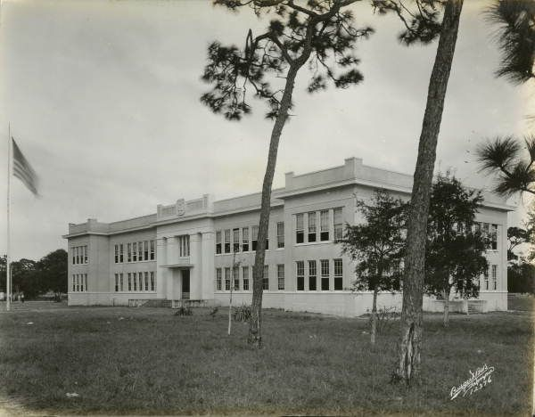 Melbourne High School building, 1925 (now restored as the Henegar Center) | Brevard County, Florida