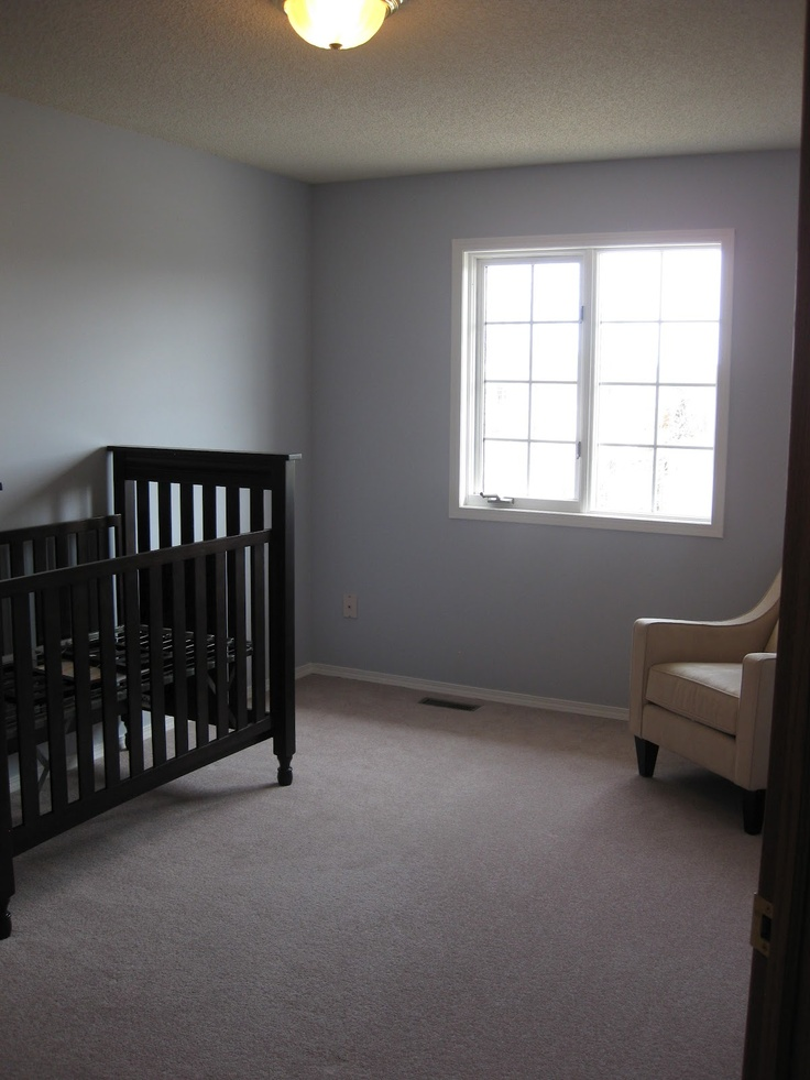 Nursery; As you can see it is very clean and meticulous, not ready for a baby. No warm colors, it gives off an air of not readyness