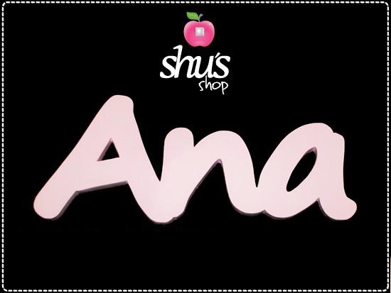 """Si algo tiene esta palabra es su belleza: """"Ana""""."""