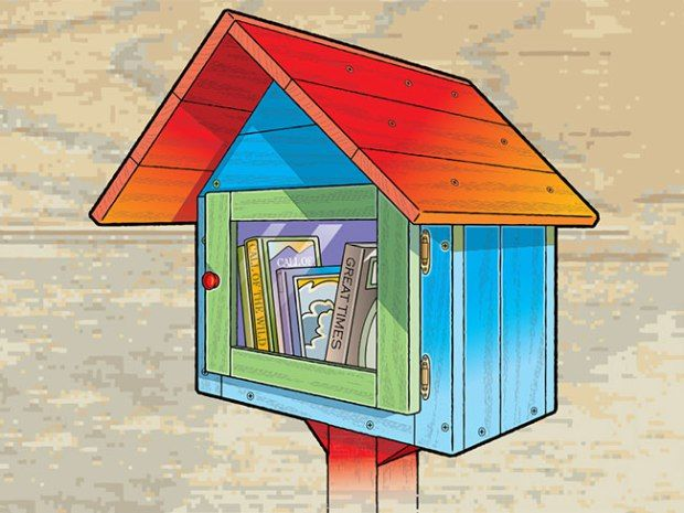 How to Build a Little Free Library | Use recycled materials to make a tiny neighborhood library where people can borrow, return and/or donate books.