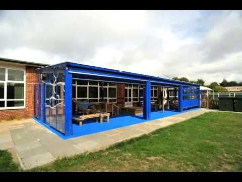 Bespoke Newcastle Monopitch Shelter with Overhead Doors - Somers Park Primary School - YouTube & 70 best Shelters Canopies u0026 Walkways images on Pinterest | Animal ...