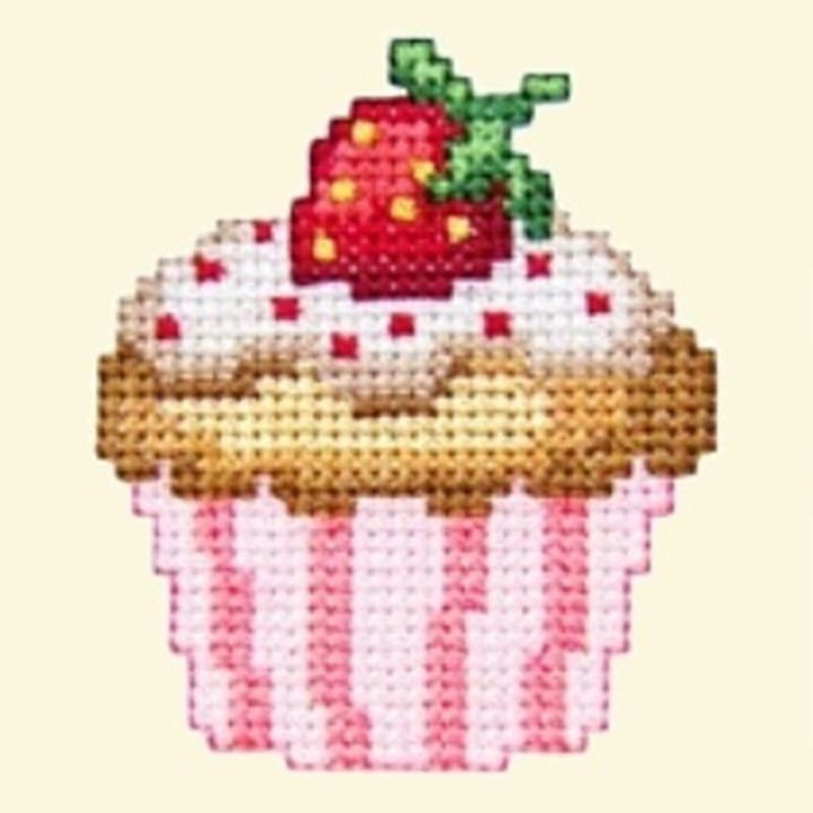 Cupcakes Cross Stitch Machine Embroidery Designs