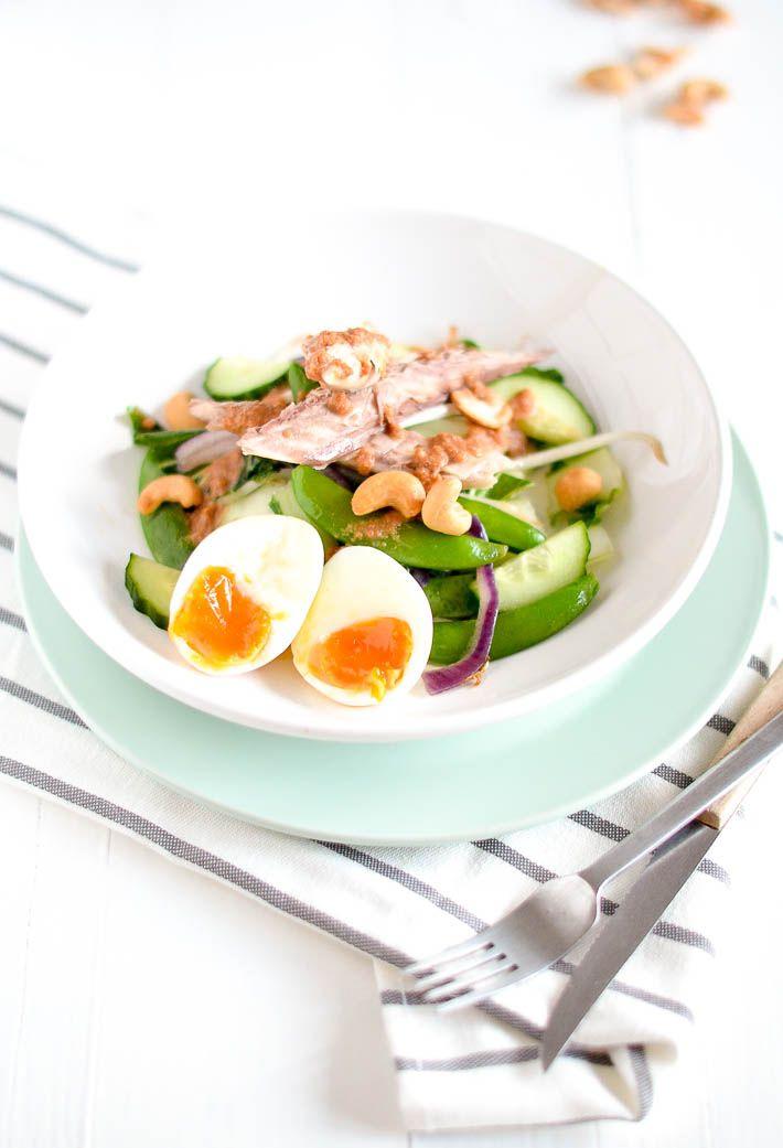 """gado gado""-salade met makreel"