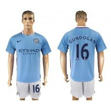 2017-18 Fußball Trikot Manchester City Home 16 Gundogan Fußball Trikot