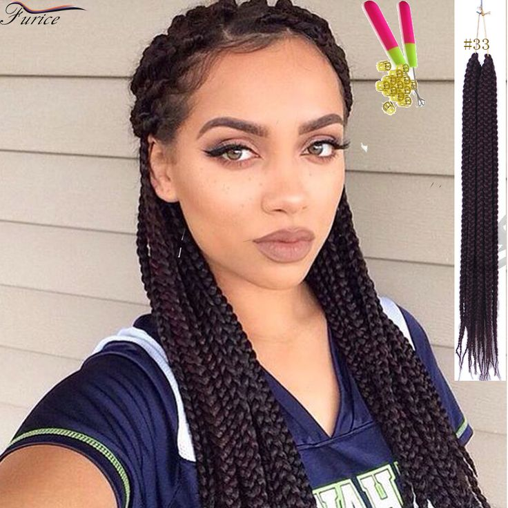 Good Hair For Crochet Braids Beautiful Box Braids Hair Curly 3X Crochet Box Braid Hair Blonde Box Braids Synthetic Fiber 18 Inch