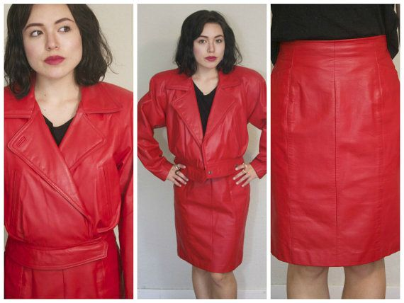 17 Best images about Leather Skirt Suits on Pinterest | Leather ...