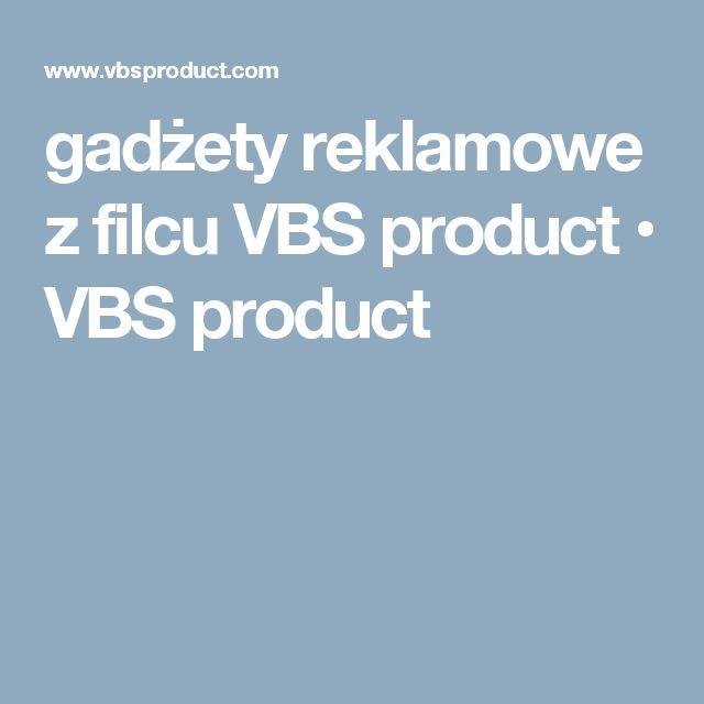 gadżety reklamowe z filcu VBS product • VBS product