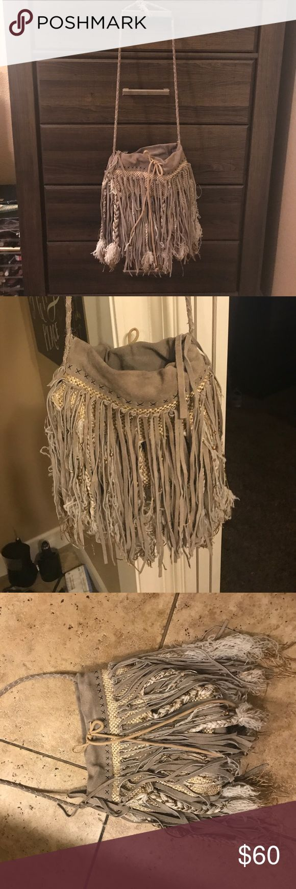 Free people fringe festival bag Free people fringe bag. Used a couple times. Great condition. Perfect for music festivals. Free People Bags Hobos