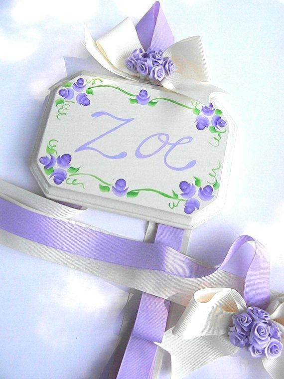 Vintage Hair Bow Holder Personalized Hair by bubblesandcompany