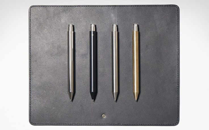 """Inventery Mechanical Pen  submitted by Everyday Carry  """"Seamless joints are one thing. But Inventerys Mechanical Pen doesnt actually have any seams or joints whatsoever instead favoring an even more minimal unibody design machined from a brass rod. To change the ink cartridge  a rollerball Schmidt P8126 capless  simply unscrew the all-brass Schmidt SKM88 Click Mechanism at the tail end. Advancing the cartridge is silky smooth and..."""" (via GearHungry)  Read More"""