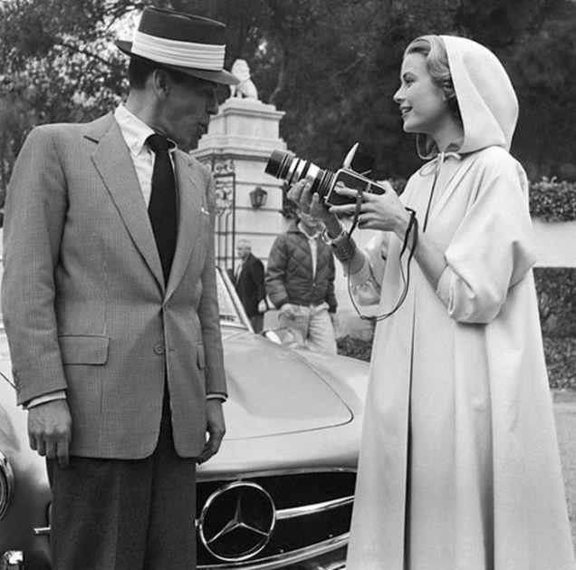 Frank Sinatra and Grace Kelly//