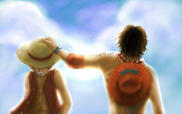 """LuffY et Acē """"R.I.P Souvenir"""" { Frère de Cœur for Life } ~ Luffy Monkey D. • Ace Portgas D. ~ ⚓️ One Piece ⚓️"""