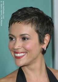 allysa milano ultra short hair cut - Google Search