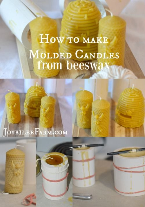 How to make molded Candles from beeswax.  Joybilee Farm.