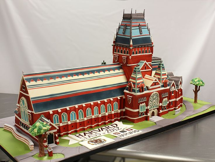 See how it was made - Harvard Memorial Hall 3D Cake by  Amanda Oakleaf Cakes