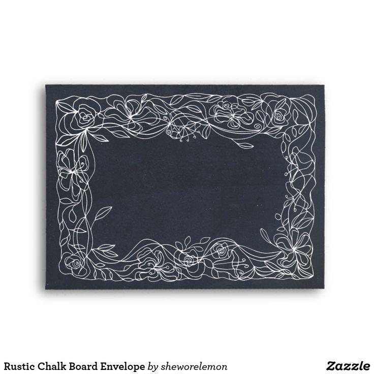 Rustic Chalk Board Envelope