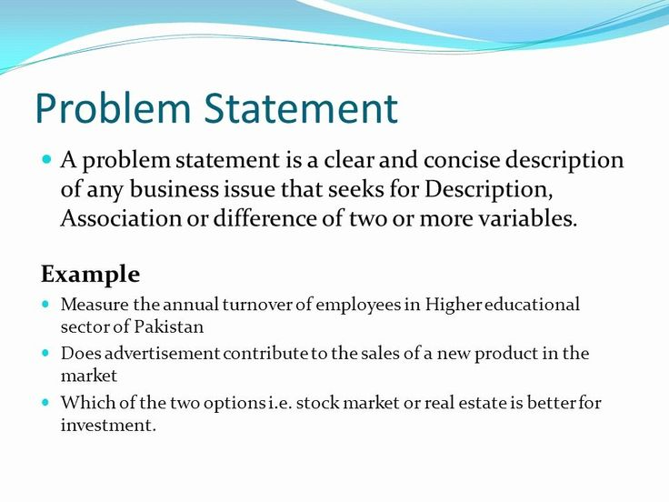 Business Problem Statement Example Unique Problem