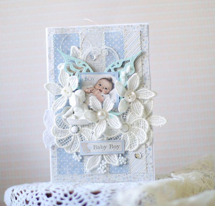 Precious little baby boy card - made by Evgenia