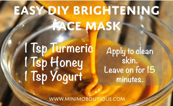 DIY Tumeric Skin Brightening Face Mask