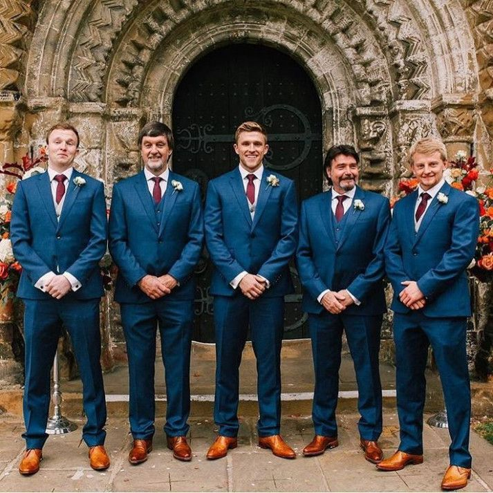 13 Best Images About Brilliant In Blue On Pinterest Blue Colors Groomsmen And Navy Blue Suit Wedding Groomsmen Attire Groom Wedding Attire Wedding Guest Suits