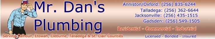 #3 Plumbing Service: Mr. Dan's Plumbing, 88 My Drive, Oxford, 256-835-6244