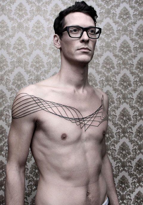 Superbes tatouages abstraits par Chaim Machlev
