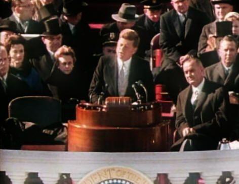 John F. Kennedy -- Inaugural Address. Public Speaker Cadette Badge