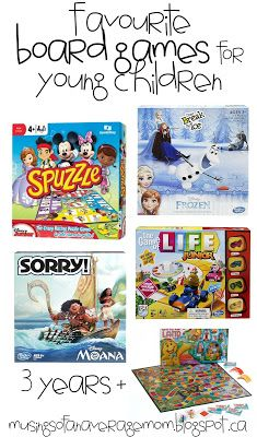 Our families favourite board games for children 3+