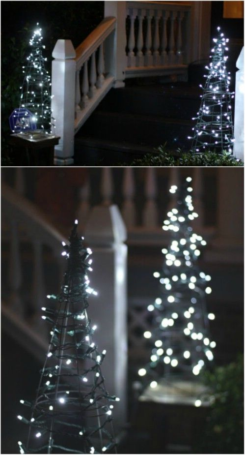 DIY Lighted Trees