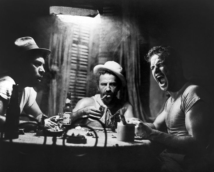 A Streetcar Named Desire (1951) directed by Elia Kazan starring Marlon Brando, stage play by Tennessee Williams