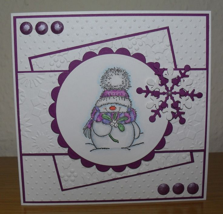 Cuttlebug Card Ideas | ... Christmas Stampin' All Year Long - CASE Your First Christmas Card