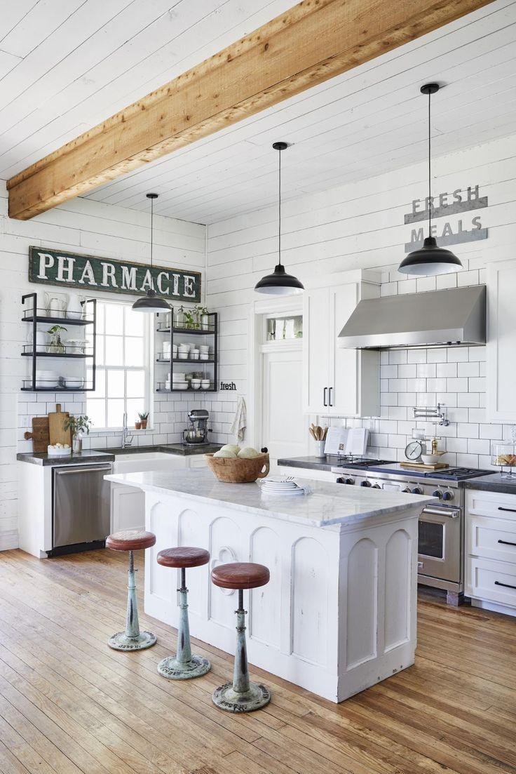 a technical guide to open shelving joanna gaines kitchen joanna gaines house rustic kitchen on kitchen layout ideas with island joanna gaines id=92048