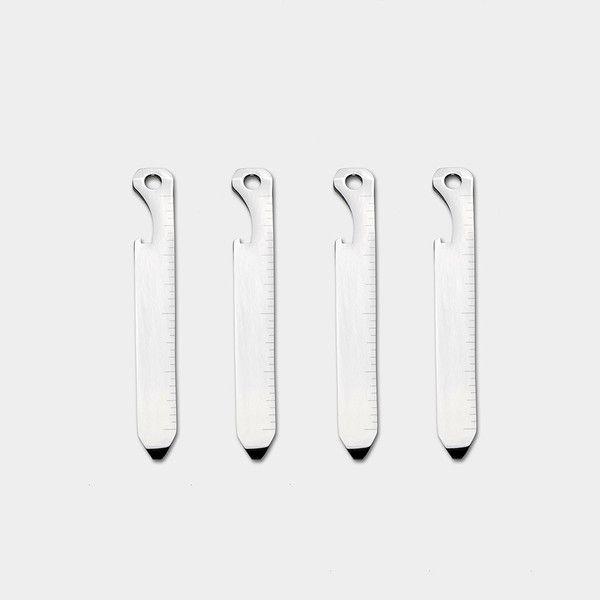 Titanium Collar Stays - 2 Pair - Cool Material