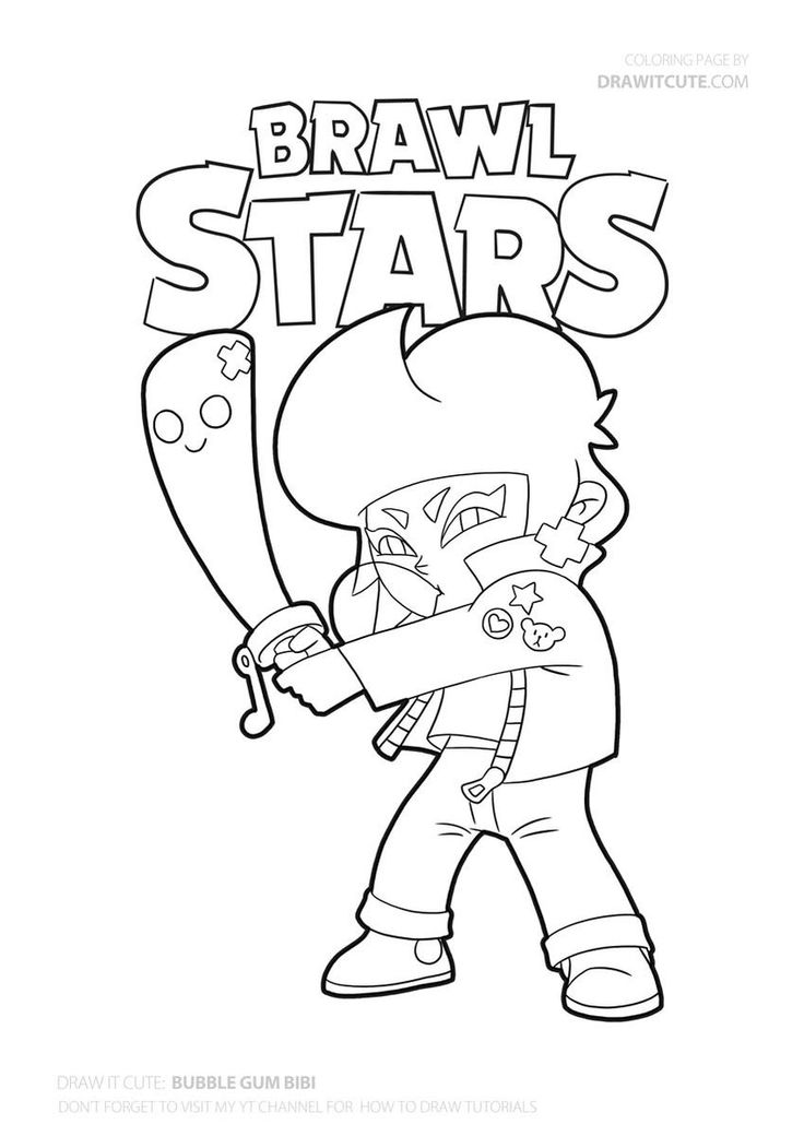 Bouble Gum Bibi from Brawl Stars #fanart #coloringpages # ...