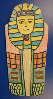 Art. Paper. Scissors. Glue!: Sarcophagi & Mummies maybe print on shrink dink paper ....