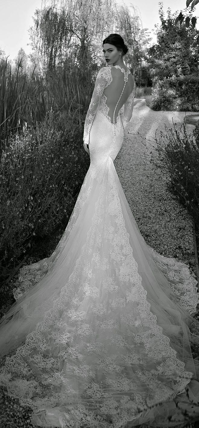 Train - lace and from seam Berta 2015 Bridal Collection | bellethemagazine.com