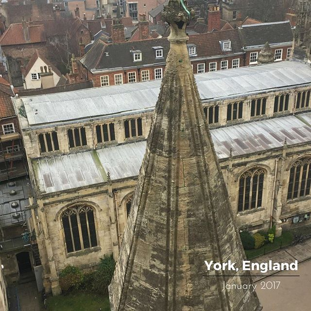 A view of #york from the top of the beautiful #yorkminster - #architecture #culture #history #uk #familyholiday #familytime #englandCheck out the #weekinmusic section of my blog at http://liamlusk.com/category/week-in-music/