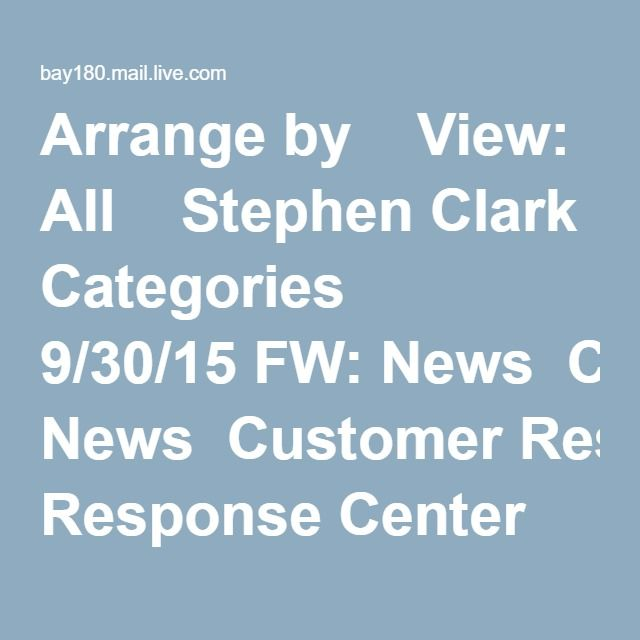Arrange by    View: All    Stephen Clark      Categories   9/30/15 FW: News‏  Customer Response Center      Documents    3/23/15 FS1‏  Expedia Travel Deals      Newsletters   12/26/14 SURPRISE coupon: $50, $75, or $100 off‏  Beth Fischer      Documents    7/24/14 RE: Copy of certs‏  Medscape Daily News      Newsletters   5/12/14 EMA Reviewing Safety of Hydroxyzine-Containing Drugs‏ Flagged 5 | Hide   Lowe's Home Improvement      Newsletters   2:52 PM Caia, Welcome to MyLowe's‏  Gmail Team…