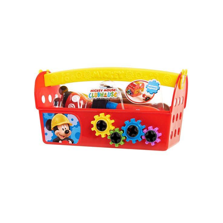 Disney Jr. Mickey Mouse Handy Helper Tool Box, Multicolor